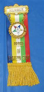 Order of Eastern Star Member Badge (PLU# 204)