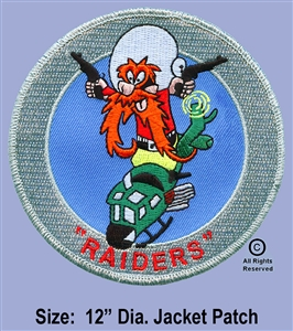 "334th AERIAL WEAPONS COMPANY - 2ND FLIGHT PLATOON GUNS ""RAIDER'S""  JACKET PATCH"