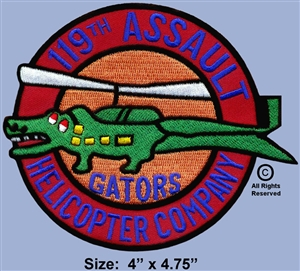 "119TH AHC  ""GATORS""  PATCH"