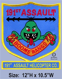 "191ST AHC  ""BOOMERANGES""  12"" JACKET PATCH (2ND DESIGN)"