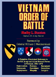 """Vietnam Order Of Battle""  A Complete Illustrated Reference Book. ""Limited Availabilty - Out of Print Collector's Addition"""