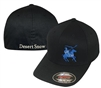 Flexfit Knight Logo Cap; Black