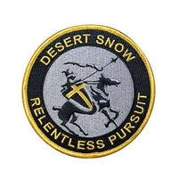 "4"" Embroidered Desert Snow Patch"