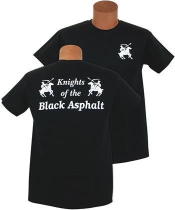Knights of the Black Asphalt; Short Sleeve; Black