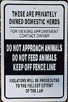 "Domestic Herd Sign - 18""H x 12""W"