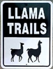 Llama Trails Sign - CURRENTLY OUT OF STOCK