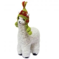"Huacaya Felted Alpaca Sculpture - Small (4"")"