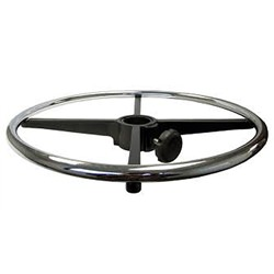 "Adjustable 18"" Diameter Cast Aluminum Chrome Polished Foot Ring"