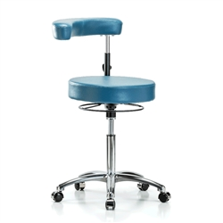 Perch Dental Chrome Stool with Procedure Arm