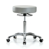 Perch 360-degree Ring Massage Therapy Swivel Stools in chrome