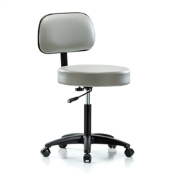 Perch Walter with Basic Backrest Exam Stool