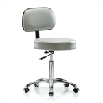 Perch Walter with Basic Backrest Chrome Exam Stool