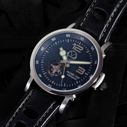 culinary watch from morpheus with leather strap