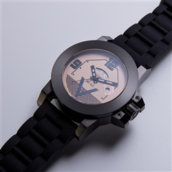 MORPHEUS M1A2 TANK WATCH IN BLACK IP WITH DESERT DIAL