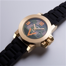 MORPHEUS M1A2 WATCH IN 18K GOLD AND EURO CAMO DIAL