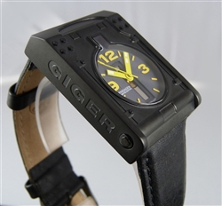 Passagen Giger Watch Black with Yellow Indicia