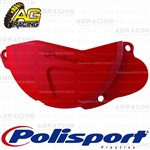 Polisport Red CR 04 Clutch Cover Protector For Honda CRF 250R 2013-2016 Motocross Enduro