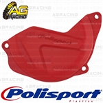 Polisport Red CR 04 Clutch Cover Protector For Honda CRF 450R 2010-2016 Motocross Enduro
