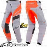 ​Alpinestars 2019 Racer Supermatic Light Grey Orange Fluo Black Youth Children's Pants Trousers