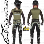 Alpinestars 2019 Racer Tactical Black Military Green Camo Race Jersey Pants Combo Kit