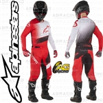 Alpinestars 2019 Racer Supermatic Red Black White Race Jersey Pants Combo Kit