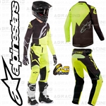 Alpinestars 2019 Racer Factory Black Yellow Fluo Race Youth Children's Jersey Pants Combo Kit