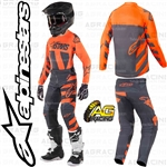 Alpinestars 2019 Racer Braap Anthracite Orange Fluo Race Youth Children's Jersey Pants Combo Kit