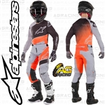 Alpinestars 2019 Racer Supermatic Light Grey Orange Fluo Black Race Youth Children's Jersey Pants Combo Kit
