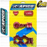 Apico Factory Red Bling Pack Covers Clamp Plugs Caps Nuts For Honda CRF 250R 2010-2017
