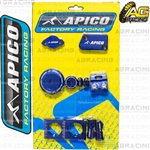 Apico Factory Blue Bling Pack Covers Clamp Caps Rim Nuts Plugs Axle Blocks For Yamaha YZ 250F 2014-2018