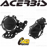 Acerbis X-Power Black Clutch & Ignition Cover Protector Kit For KTM XC-F 350 2020