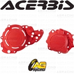 Acerbis X-Power Red Clutch & Ignition Cover Protector Kit For Beta RR 2T 300 X-Trainer 2018-2019