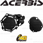 Acerbis X-Power Black Clutch & Ignition Cover Protector Kit For Yamaha YZ 125 2005-2019