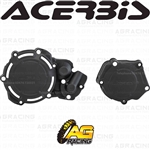 Acerbis X-Power Black Clutch & Ignition Cover Protector Kit For Yamaha YZ 250 2005-2019