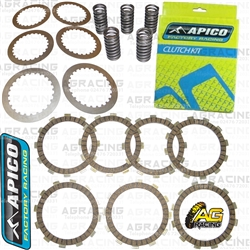 Apico Clutch Kit Steel Friction Plates & Springs For KTM XC-W 125 2017-2018 Motocross Enduro