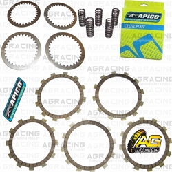 Apico Clutch Kit Steel Friction Plates & Springs For Suzuki RM 85L 2002-2018 Motocross Enduro
