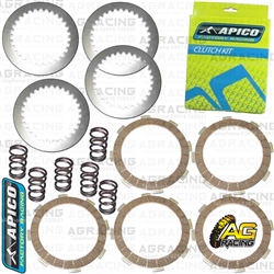 Apico Clutch Kit Steel Friction Plates & Springs For Suzuki RM 65 2003-2005 Motocross Enduro