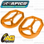 Apico Pro Bite Pro-Bite Footpegs Foot Pegs Replacement Orange Silicone Seal 2 Piece