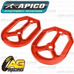 Apico Pro Bite Pro-Bite Footpegs Foot Pegs Replacement Red Silicone Seal 2 Piece