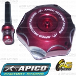Apico Red Alloy Fuel Cap Vent Pipe For Honda CRF 150RB 2007-2018 Motocross Enduro