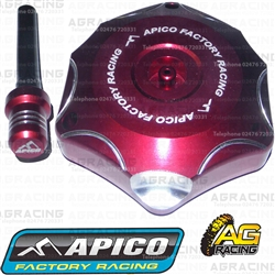 Apico Red Alloy Fuel Cap Vent Pipe For Honda CRF 450RX 2017-2018 Motocross Enduro