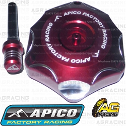 Apico Red Alloy Fuel Cap Vent Pipe For Honda CR 125 1996-2007 Motocross Enduro