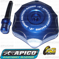 Apico Blue Alloy Fuel Cap Vent Pipe For Kawasaki KLX 450R 2008-2016 Motocross Enduro