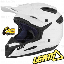 Leatt Adult Helmet GPX 5.5 Ghost Solid White Motocross Enduro