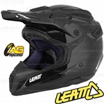 Leatt Adult Helmet GPX 5.5 Ghost Solid Black Motocross Enduro