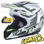 Leatt Adult Helmet GPX 5.5 Black White Lime Motocross Enduro