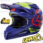 Leatt Adult Helmet GPX 5.5 Blue Lime Motocross Enduro