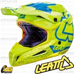 Leatt Adult Helmet GPX 5.5 Lime Blue Motocross Enduro