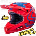 Leatt Adult Helmet GPX 5.5 Red Blue Motocross Enduro