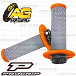 ProGrip 708 Twist Grips with 5 Cams Grey Orange Motocross Enduro Quad ATV